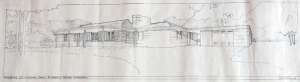 This is Edgar Tafel's perspective drawing of the house.