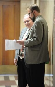 Court hearing for Edgar Tafel's Carl and Marie Albert House, 4945 N. Main Street, Wind Point, Wisconsin, Friday May 8, 2015.  /  (c) Mark Hertzberg