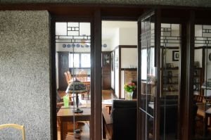 The documentation of Frank Lloyd Wright as the architect of the home at 2106 Newton Avenue, Shorewood, Wis., was announced Friday June 5, 2015. The home, which dates to 1917, is one of Wright's American System-Built homes. It has   /  (c) Mark Hertzberg