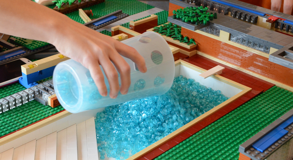 Lego wright in racine How to draw swimming pool water